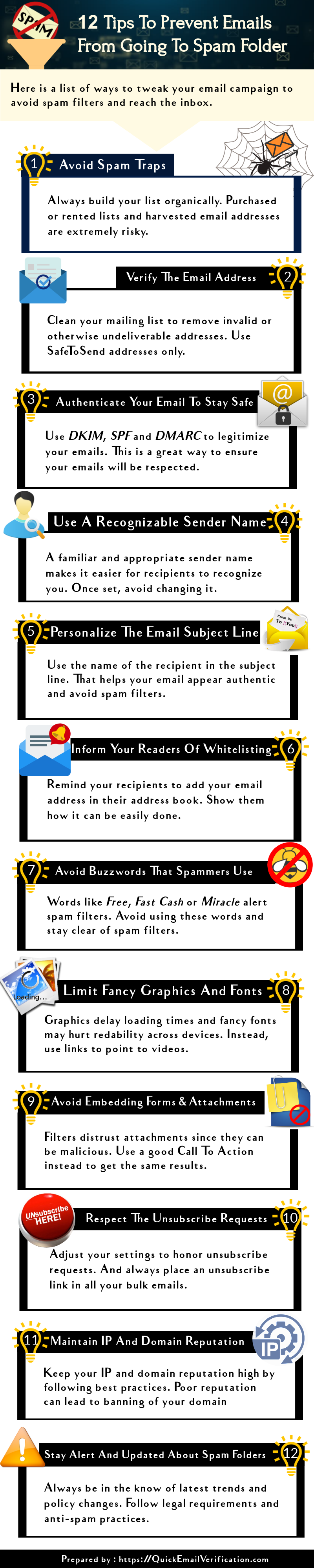 How to prevent emails from going to spam folder
