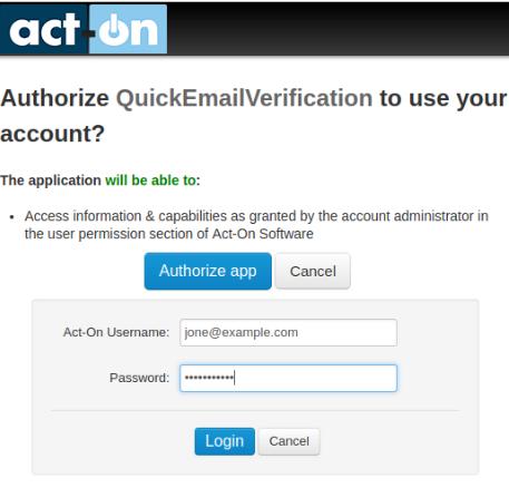 Act-On login