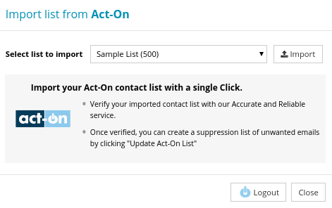 Import Contact List from Act-On
