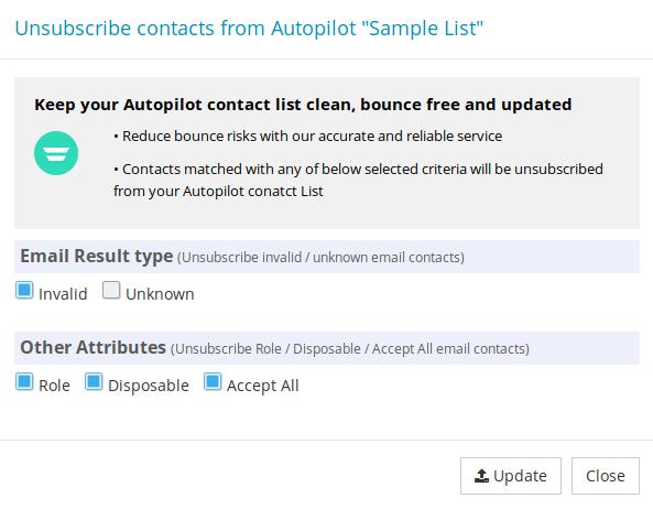 Options to export Autopilot contact list