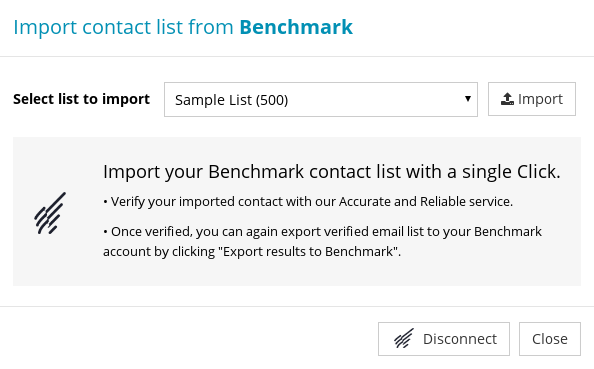 Import Contact List from Benchmark