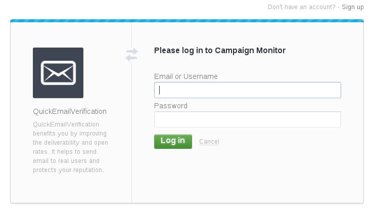 CampaignMonitor login