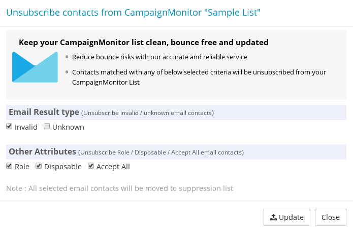 Options to export CampaignMonitor Subscriber List