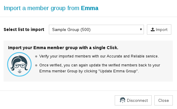 Import member group from Emma