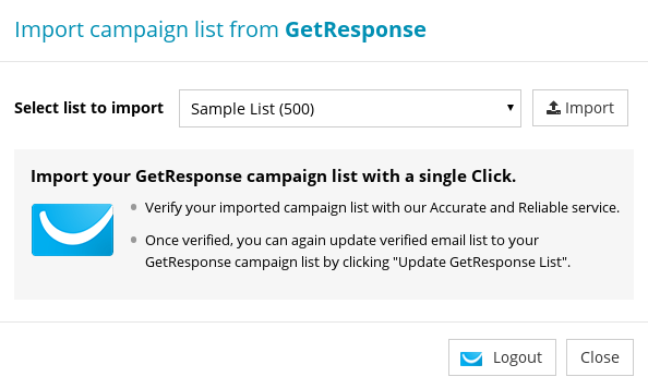 Import Campaign List from GetResponse
