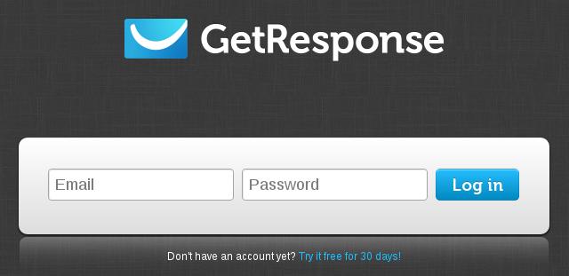 GetResponse login