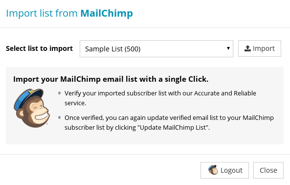 Import Subscriber List from Mailchimp