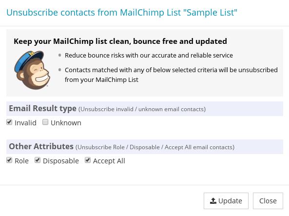 Update Mailchimp Subscriber List