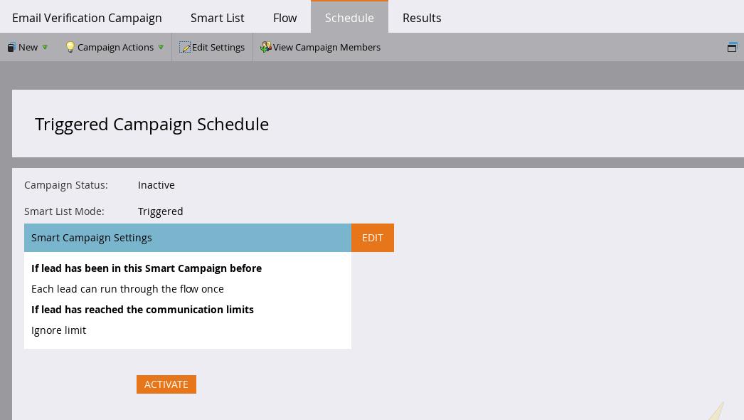 Campaign Schedule