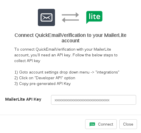 Connect with MailerLite