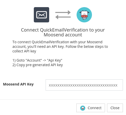 Connect with Moosend