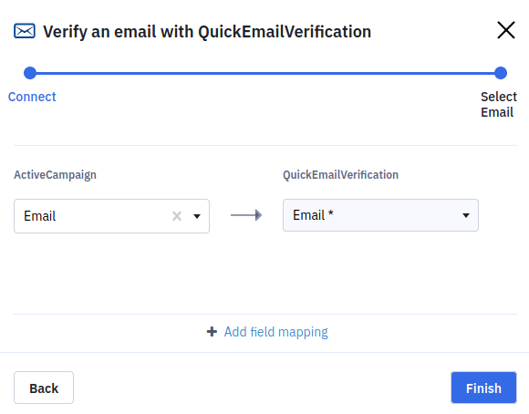 QuickEmailVerification Field Mapping