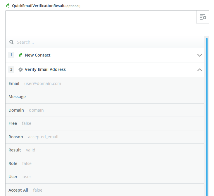 Set verification results to custom fields